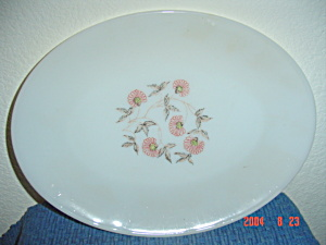 Fire King Fleurette Oval Platter