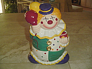 Jc Penney Home Collection Ceramic Clown Cookie Jar