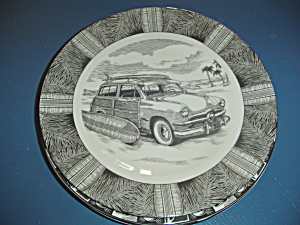 222 Fifth Slice Of Life Surf Woody Dinner Plate