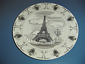 222 Fifth Slice Of Life Eiffel Tower Dinner Plate