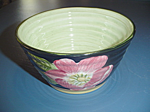 Culinary Arts Black Floral Green Center Soup/cereal Bowls