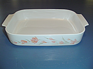 Corning Ware Peach Floral Lasagna Pan Very Hard To Find
