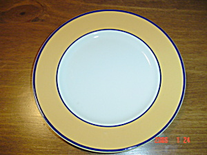 Pagnossin Spa Yellow Blue Verge Salad Plates