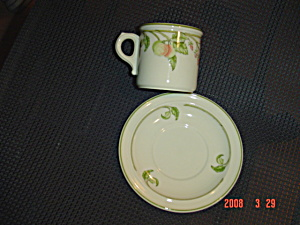 Wedgwood Wild Apple Cups And Saucers