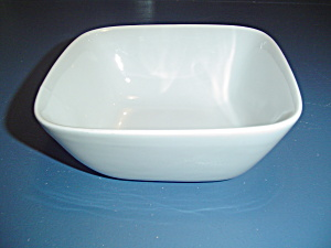 Pier 1 White Square Cereal Bowls