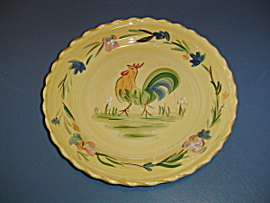 Home Rooster Center Yellow Dinner Plates