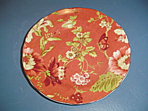Summer Botanical-lutece-fleur Rouge By 222 Fifth (Pts) Salad Plate