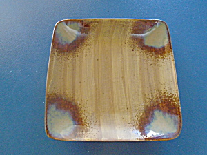 Sango Splash Brown Square Salad Plates New
