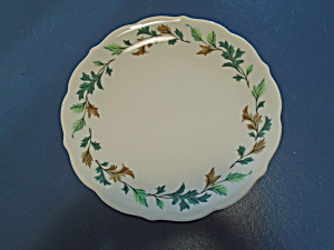 Syracuse China Co. Sk185 Dinner Plates Green And Brown Leaves