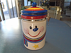 Hinged Jar Unknown Maker Snowman with a Striped Hat (Image1)