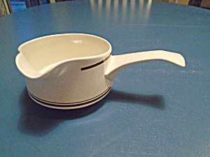 Lenox Temperware Vintage Cottonwood Stick Handle Gravy Boat