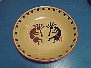 ACK Kokopelli Hand Painted Casa Vero Large Salad Bowl (Image1)