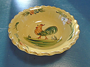 Home Rooster Soup/cereal Bowls Bright Yellow