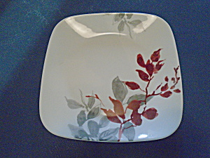 Corelle Kyoto Leaves Square Lunch Plates 9 In.