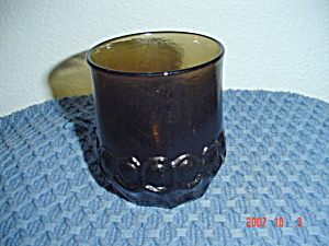 Franciscan Madeira Smoke Brown Rocks/old Fashioned Glasses