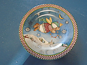 Snow Angel Village Salad Plate Debbie Mumm Style 4