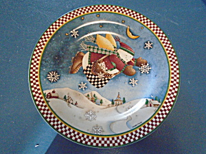 Snow Angel Village Salad Plate Debbie Mumm Style 2