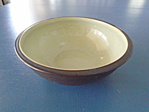 Denby Duet Black And Green Cereal Bowls
