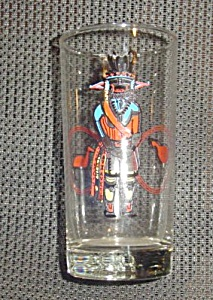 Libbey Glass Kachina Hi Ball Glasses