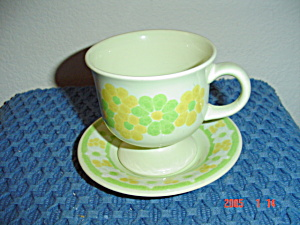 Franciscan Picnic Cups And Saucers