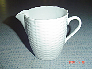 Tienshan White Wicker Creamer