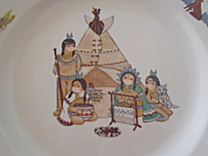 Meiwa Indian Village Dinner Plates - Have To See These