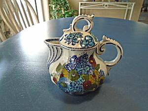 Fabrique en Chine Fancy Blue Flowered Tea Pot (Image1)