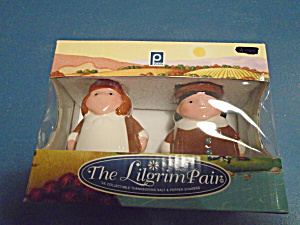 Publix Pilgrim Pair Salt/pepper Shakers New In Box