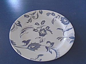 Corelle White And Gray Flower Lunch Plates No Pattern Known