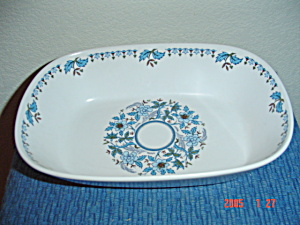 Noritake Progression Blue Moon Oval Serving Bowl