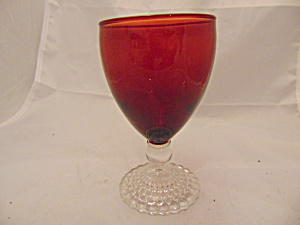 Anchor Hocking Red Boopie Bubbles Water Goblets