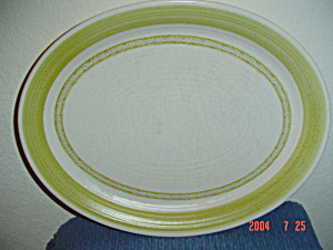 Franciscan Hacienda Green Oval Platters Small Turkey Platters