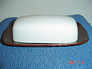 New Sango Quarry White Covered Butter Dish