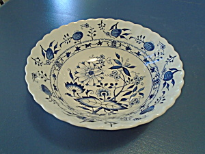 Staffordshire Blue Lily (Onion) Round Serving Bowl