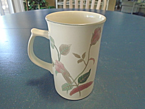 Mikasa Silk Flowers Cappuccino Mugs 4.75 In. Tall