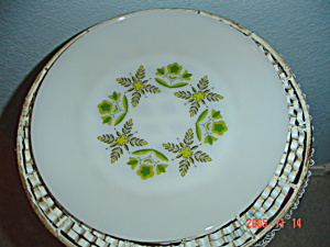Fire King Meadow Green Dinner Plates Set Of 7