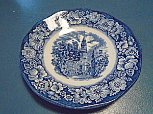 Staffordshire Liberty Blue North Church Saucers