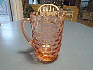 Whitehall Colony American Fostoria 8 In. Pink Cube Serving Pitcher