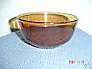 Fire King/anchor Hocking Amber Smallest Mixing Bowl