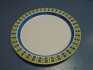 Dansk Kobenhavn Salad Plates Style 2 White, Orange, Blue, Green