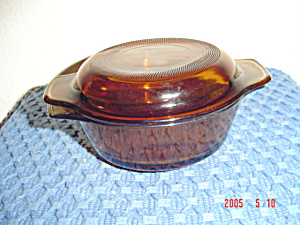 Anchor Hocking Amber 1 Pint Individual Casseroles