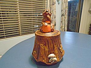 Vintage California Originals Bear on a Stump Cookie Jar (Image1)