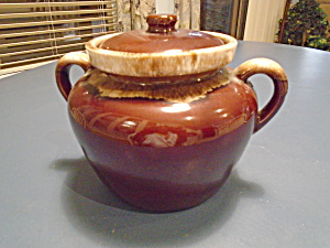 Mccoy Brown Drip Covered Bean Pot