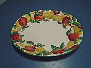 Clay Art Apples And Pears Very Large Platter