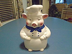 Pink Pig Chef Cookie Jar  (Image1)