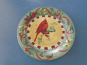 Lenox Cardinal & Nuthatch Dinner Plates 2 for 1 WORN (Image1)