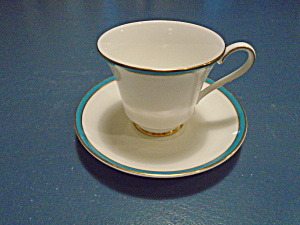 Minton Saturn Turquoise Sets of Cups/Saucers  (Image1)