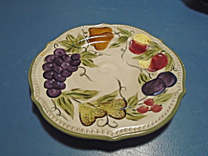 Tabletops Francesca Dinner Plates Fruit Pattern