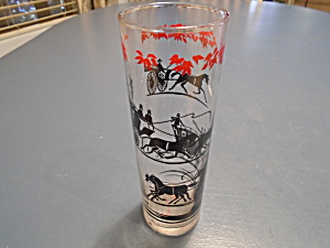 Swanky Swigs Black Horse And Carriage Collins Glasses Set Of 6