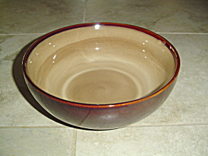 Sango Nova Brown Cereal Bowls 6.5 In Diameter.